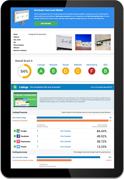 I.D. Creative Designs | Snapshot Report Tablet